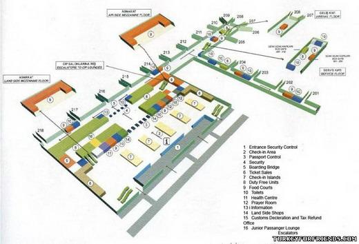 """Схема аэропорта """"Фьюмичино"""" г."""