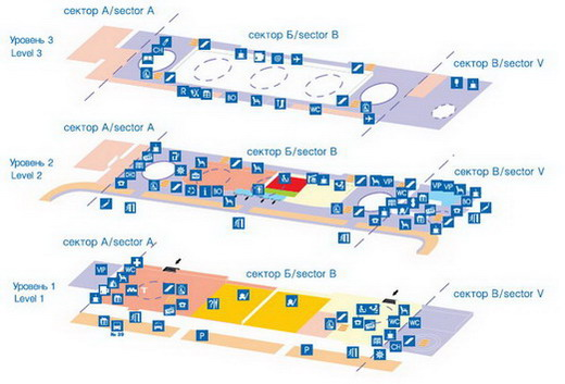 Схема аэропорта Пулково 1