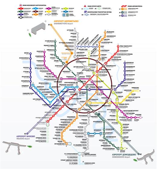 Схема метро Москвы и